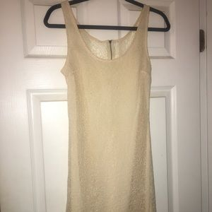 Lacey off white dress